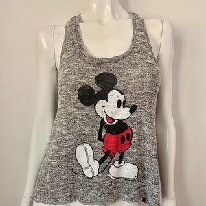 Disney Mickey 2 Tone Marbled Knit Tank Sz Small